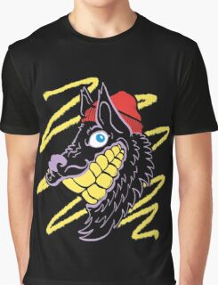 Hipster Wolf Grillz Graphic T-Shirt