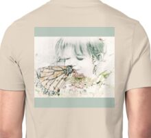 Butterfly Kisses- Sage Green Border Unisex T-Shirt