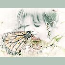 Butterfly Kisses- Sage Green Border by Susan Werby