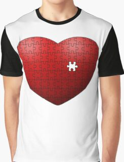 Puzzle Heart missing last piece Graphic T-Shirt