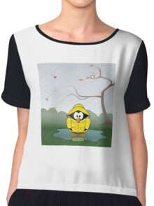 Penguin in the rain Chiffon Top