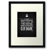 Jaws - Shark's In The Water Framed Print