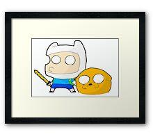 Finn&Jake Chibi Framed Print
