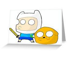 Finn&Jake Chibi Greeting Card