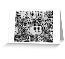 Analog Synthesizer - Modular Design - black & white Greeting Card