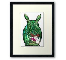 Mei and Totoro Framed Print