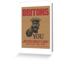 Vintage poster - British Military Greeting Card