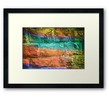 Colorful Wall Framed Print