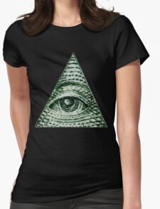 ILLUMINATI MEME CLASSIC LOGO Womens Fitted T-Shirt