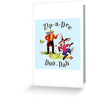 "Uncle Remus and Brer Rabbit ""Zip-A-Dee Doo-Dah"" Shirt Greeting Card"