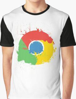 Splatter Google Chrome Graphic T-Shirt