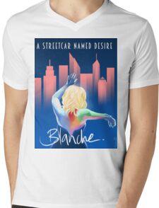 Blanche - NYC Mens V-Neck T-Shirt