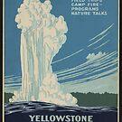 Vintage Yellowstone National Park Travel Poster by Framerkat