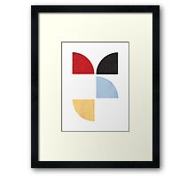 Abstract Quarters Framed Print