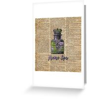Lavender Bath Salts Old Book Page Vintage Illustration Greeting Card