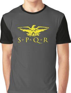 Senatus Populusque Romanus SPQR Roman Eagle Graphic T-Shirt