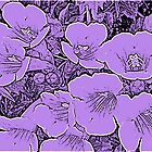 Floral Abstract-Purple and Black by Susan Werby