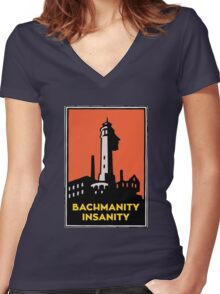 Alcatraz Bachmanity Insanity - Silicon Valley Women's Fitted V-Neck T-Shirt