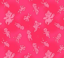 Mini Bears - Scatter Shot! (Pink) by Curtis Bathurst