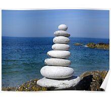 Zen Stone Tower Poster