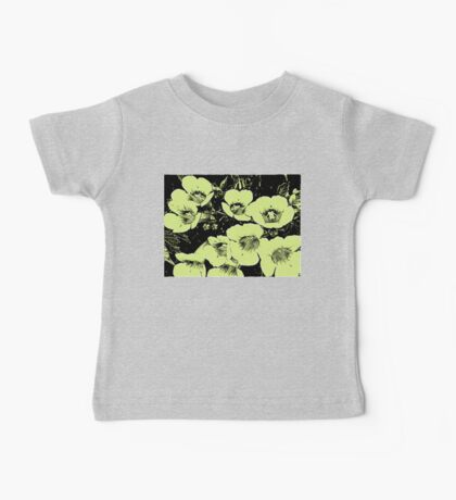 Floral Abstract-Lime Green and Black Baby Tee