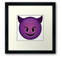 Devil Emoji Framed Print