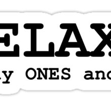 programming computer relax ones zeros Sticker