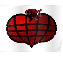 Heart Grenade : Red Poster