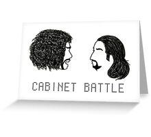 Jefferson Hamilton Cabinet Battle Greeting Card