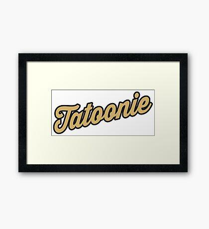 Tatoonie Framed Print