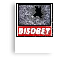 Disobey TV Canvas Print