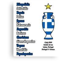 Greece 2004 Euro Winners Canvas Print