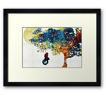 Colorful Landscape Art - The Dreaming Tree - By Sharon Cummings Framed Print