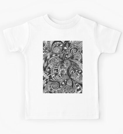 Drawing floral abstract background Kids Tee