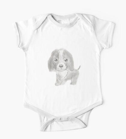 Precious Puppy One Piece - Short Sleeve