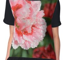 Pink Mini Carnation Chiffon Top