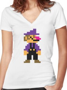 Waluigi Women's Fitted V-Neck T-Shirt