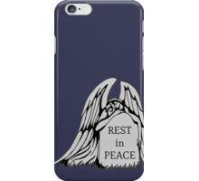 Weeping Angel on a Gravestone iPhone Case/Skin