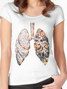 Lungs - Flowers  Women's Fitted Scoop T-Shirt