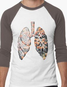 Lungs - Flowers  Men's Baseball ¾ T-Shirt