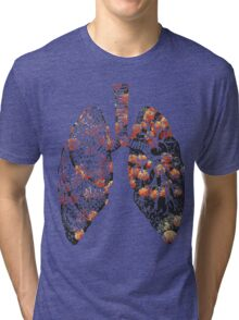 Lungs - Flowers  Tri-blend T-Shirt