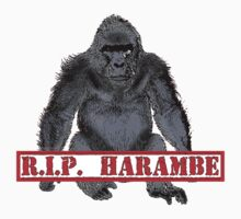 Harambe RIP Harambe the Gorilla One Piece - Short Sleeve