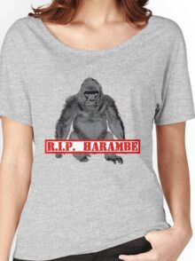 Harambe RIP Harambe the Gorilla Women's Relaxed Fit T-Shirt