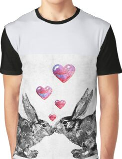 Bunny Rabbit Art - Hopped Up On Love 2 - By Sharon Cummings Graphic T-Shirt