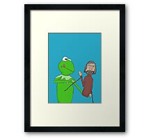Henson and Kermit Framed Print