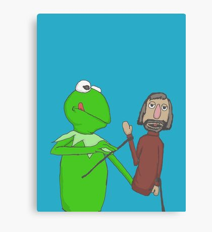 Henson and Kermit Canvas Print
