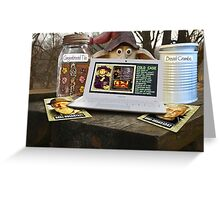 Deep Woods Informant on Oven Homicide Greeting Card