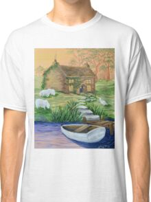 Country Cottage Row Boat Classic T-Shirt