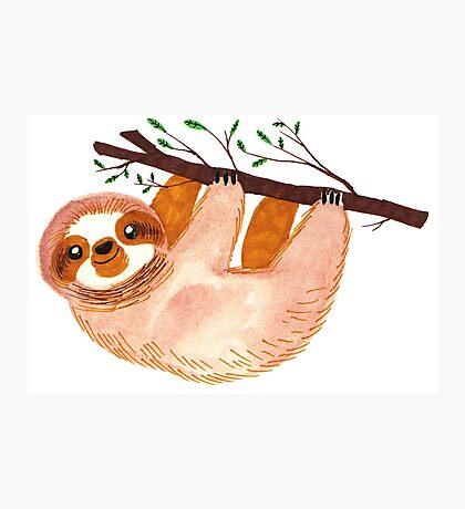 Kawaii Sloth Watercolor Photographic Print
