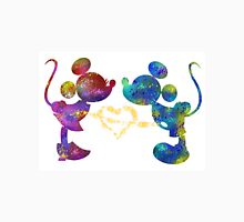 mickey and minnie watercolor  Unisex T-Shirt